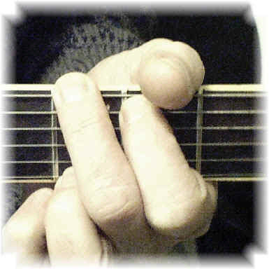 Using the G major guitar chord