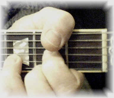 Chord Progression using the open A guitar chord